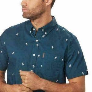 Ben Sherman Shirts - Ben Sherman Mens Woven Short Sleeve Shirt  XL